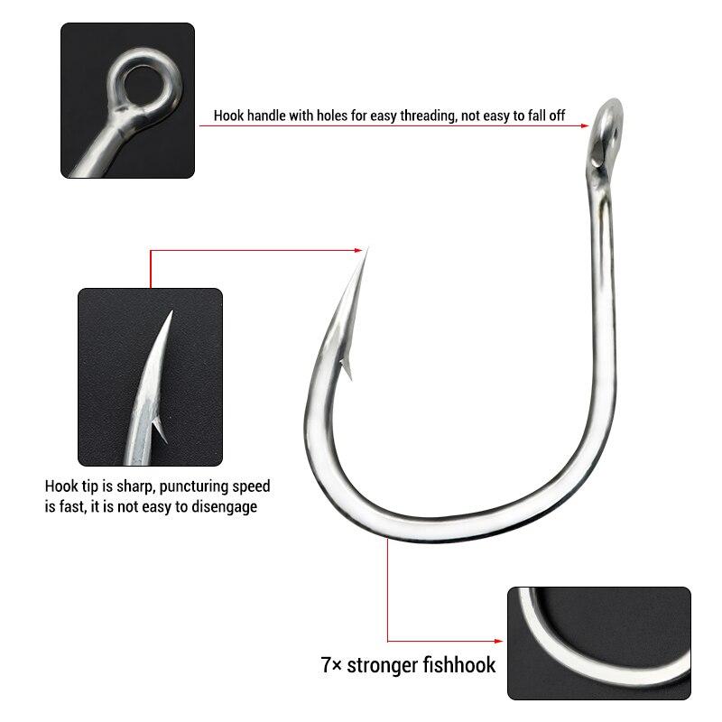 10pcs 9/0-11/0 Fishhooks 7X Jig Hooks Fishing high quality Sea stainless circle hamecon anzois fishing hook article enlarge