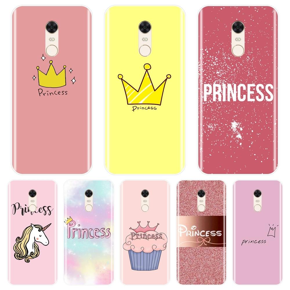 Funda trasera de princesa para Xiaomi Redmi S2 6A 5 Plus 4A funda de teléfono de silicona suave para pocofone F1 Redmi Note 6 Pro 5A Prime 5 4 4X
