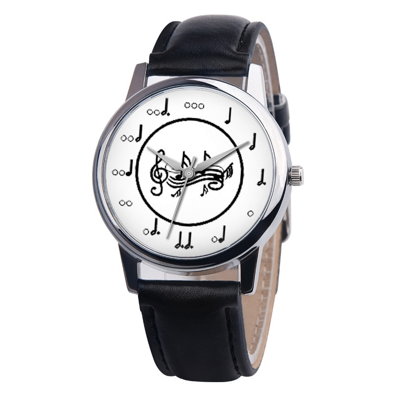 Фото - Trend Style Fancy Unisex Musical Note Leather Band Analog Alloy Quartz Watch Top Brand Luxury Waterproof Watch Relogio Masculino woman quartz analog hollow musical note style leather fashion ladies casual watch female