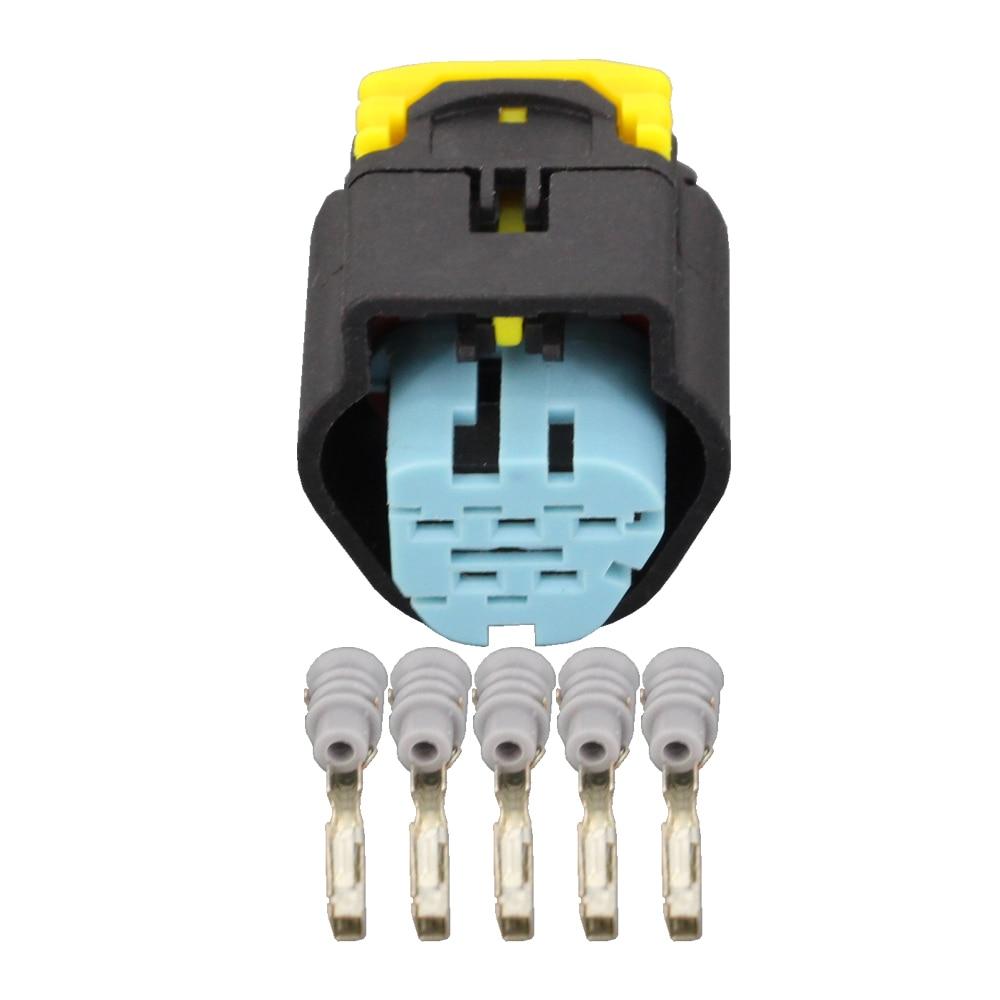 5 pinos DJ7051F-1.5-21 à prova dwaterproof água 5 pinos conector de fio elétrico automotivo para vw audi injetar sensor se encaixa ford 1928405138 5 p