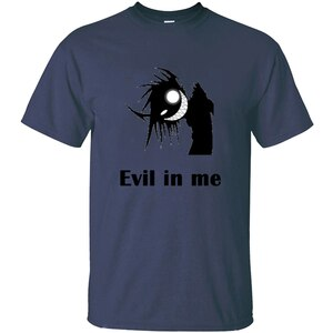 The New Evil In Me Mens T Shirt Round Collar Men Tee Shirt Short-Sleeve 100% Cotton Tee Top