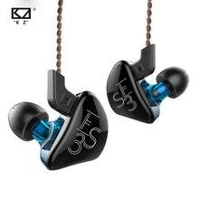 KZ – écouteurs intra-auriculaires à pilote hybride ES3, 1DD + 1BA, moniteur hi-fi, oreillettes de Sport, câble de remplacement, KZ ES4 ZST ZSN EDX ZAX