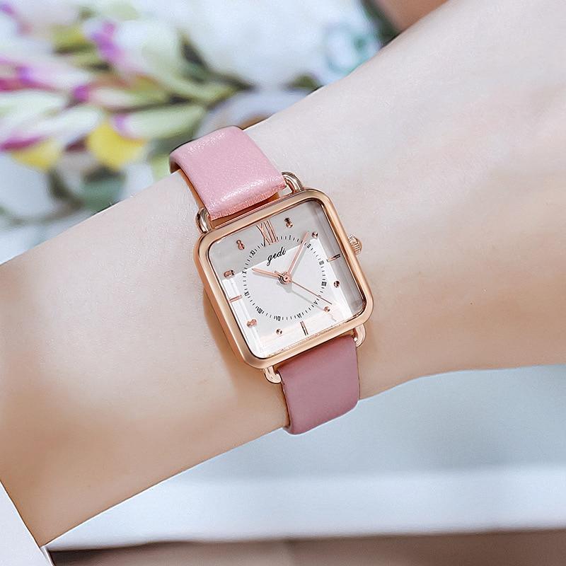 Fashion Retro Square Watch Women Fresh Waterproof Leather Belt Quartz Wrist Watch Luxury Brand Gift for Women Relojes Para Mujer enlarge