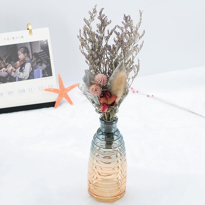 Flores secas, hierba de cristal rosa, flores naturales, ramo de boda, decoración del hogar, regalo de San Valentín, decoración de fondo de fotografía 1 Uds.
