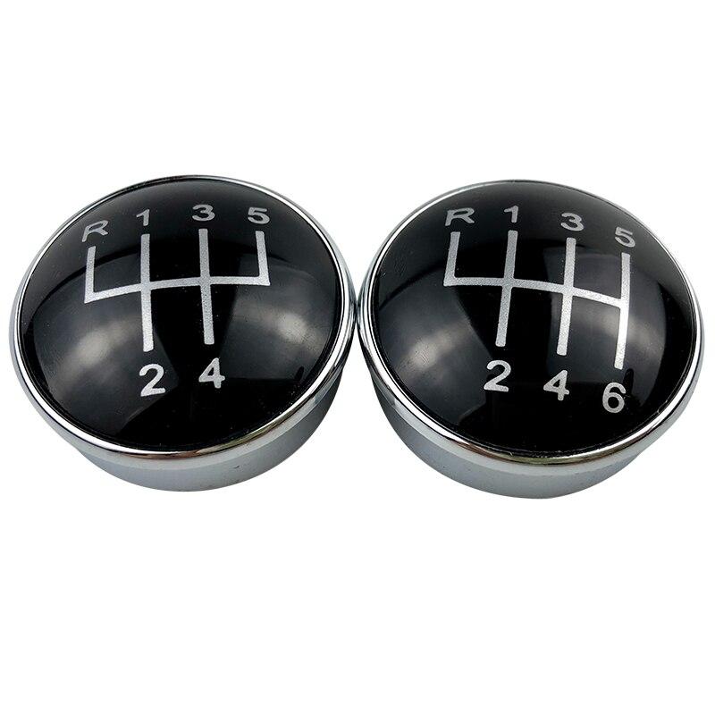 5/6 Engrenagem Speed Shift Knob Alavanca Cabeça Cap Emblema Para Audi A3 S3 A4 S4 B6 B7 A6 C6 VW Passat B5 3BG B6 B7 CC 3C Golf 4 MK4 Bora
