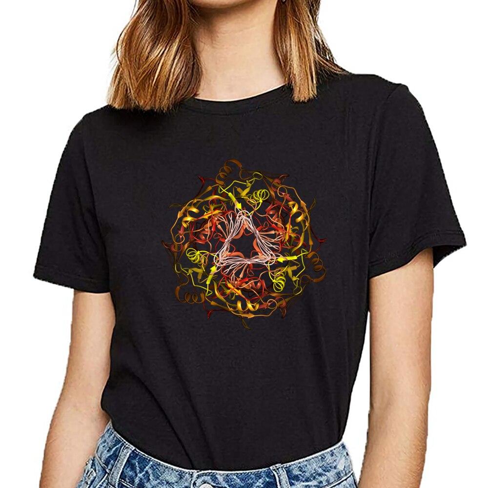 Tops camiseta mujer cryo electron microscopía estructura de proteína Sexy Harajuku camiseta femenina personalizada