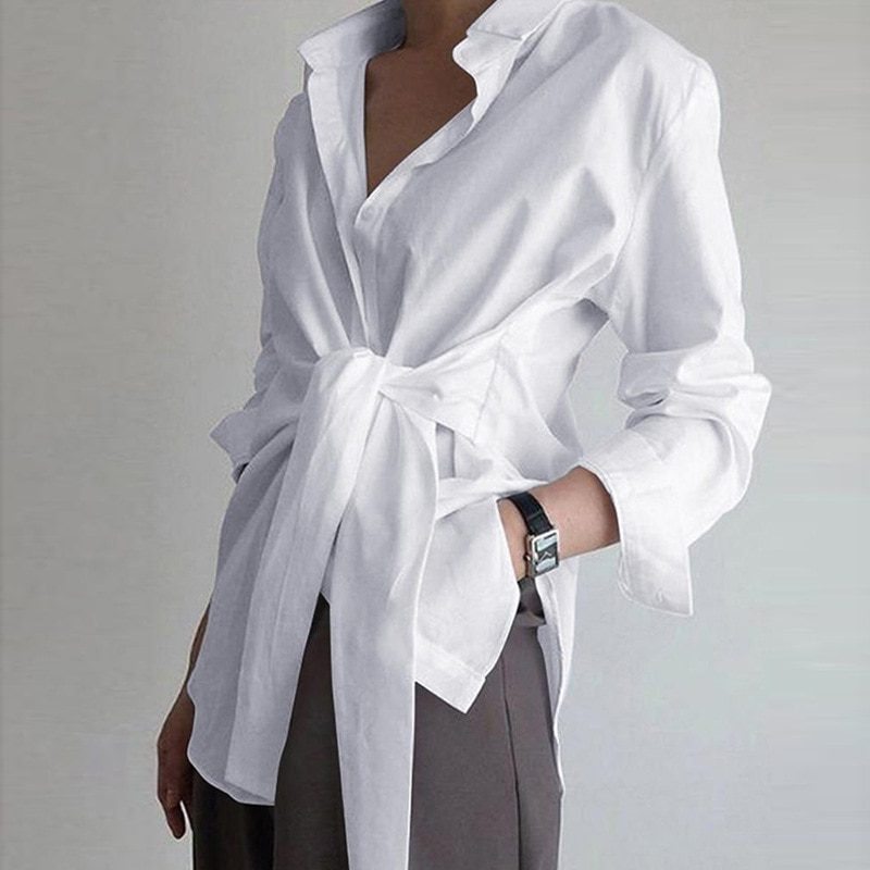 Fashion Simple Women Shirt Blouse Long Sleeve Ruched Solid Color Blouse For Office Ladies White Blue Black Autumn Shirt solid ruched detail blouse