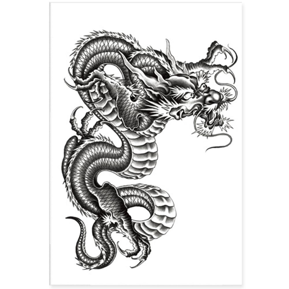 3D Black Dragon Removable Waterproof Temporary Tattoo Arm Leg Body Art Sticker