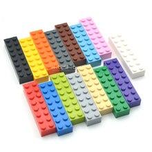 Enfants en plastique blocs de construction ensemble jouets éducatifs briques pièces compatibles avec legos bricolage jouets pour enfants 2x8 points 20 pièces/lot