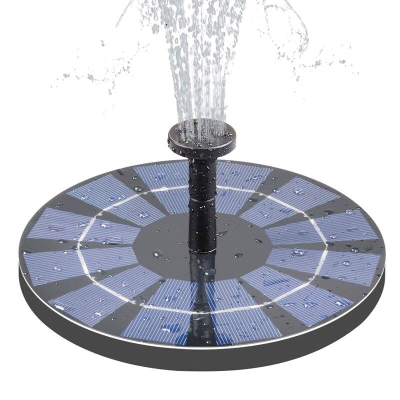 Nueva fuente Solar con batería de reserva 2,5 W fuente para baño de pájaros fuente de energía Solar de pie libre para estanque de pájaros piscina Garde