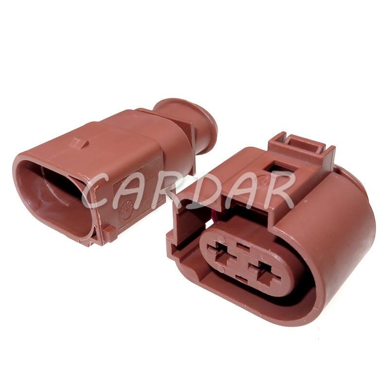 1 комплект, 2 контакта, 6,3 мм, герметичные автомобильные водонепроницаемые разъемы, разъем вентилятора для VW