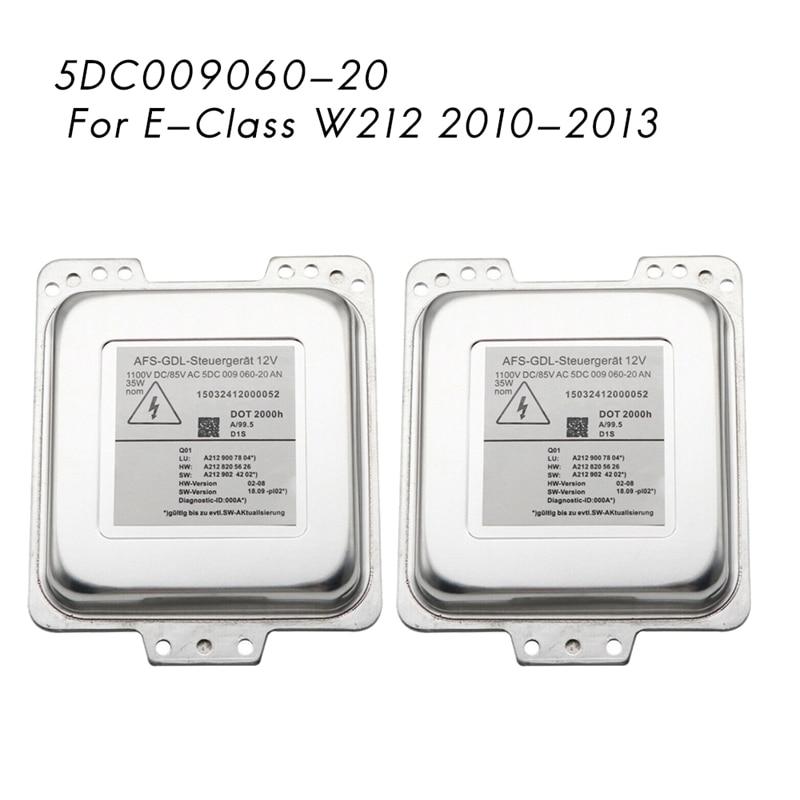2Pcs New D1S Xenon HID Headlight Ballast Module for AFS-GDL Mercedes-Benz E-Class W212 2010-2013 5DC009060-20