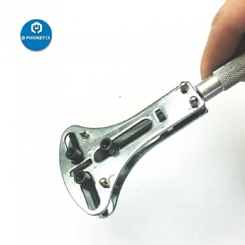 Ver herramienta de reparación de caso removedor de tornillo ajustable abridor de Parte posterior impermeable llave herramienta de reparación de juegos cubierta herramienta de apertura