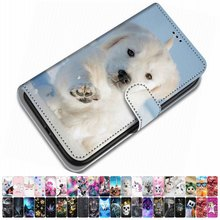 For Case Xiaomi Play Redmi 3 3S Y2 S2 Redmi Go PU Leather Phone Cover Animal Floral Tower Lovely Gir