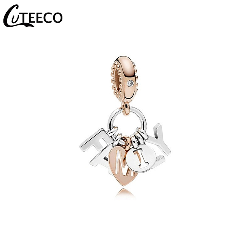 Cuteeco 2019 nova cor de ouro rosa quente família esmalte contas se encaixa original pandora pulseira para feminino moda jóias acessórios