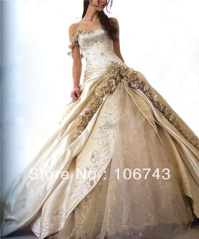 Nueva gran oferta cariño princesa bordado flores hecho a mano vestido de novia de pedrería vestido de novia Madre de la novia vestidos