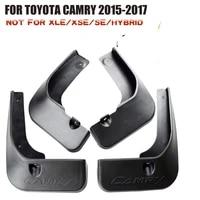 4 pcs set molded mud flaps mudflaps splash guards front rear mud flap mudguards fender for toyota camry 2015 2017 yc101015