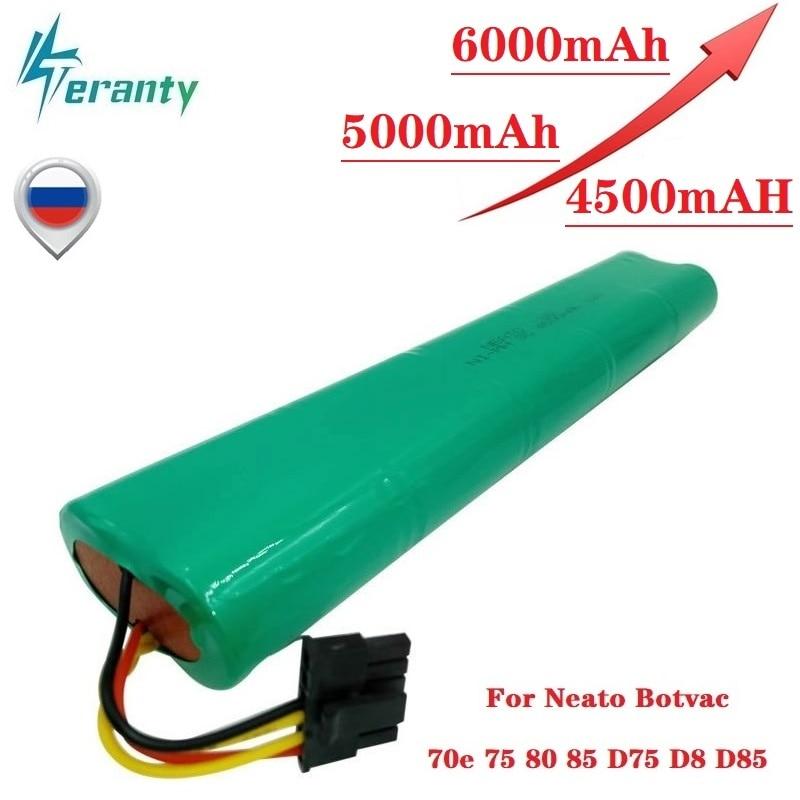 Обновленная 4500 мАч 5000 мАч 6000 мАч 12 в Ni-MH батарея для Neato Botvac 70E 75 80 85 D75 D8 D85 Пылесос аккумуляторная батарея
