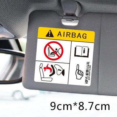 Стайлинг автомобиля Наклейка Предупреждение подушка безопасности внедорожника применение более высокий риск опрокидывания Interier наклейки гладкая поверхность использовать только