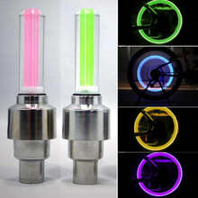 2x Car Wheel LED Light Motocycle Bike Light Tire Valve Cap Decorative Lantern Tire Valve Cap Flash Spoke Neon Lamp Bicycle Light