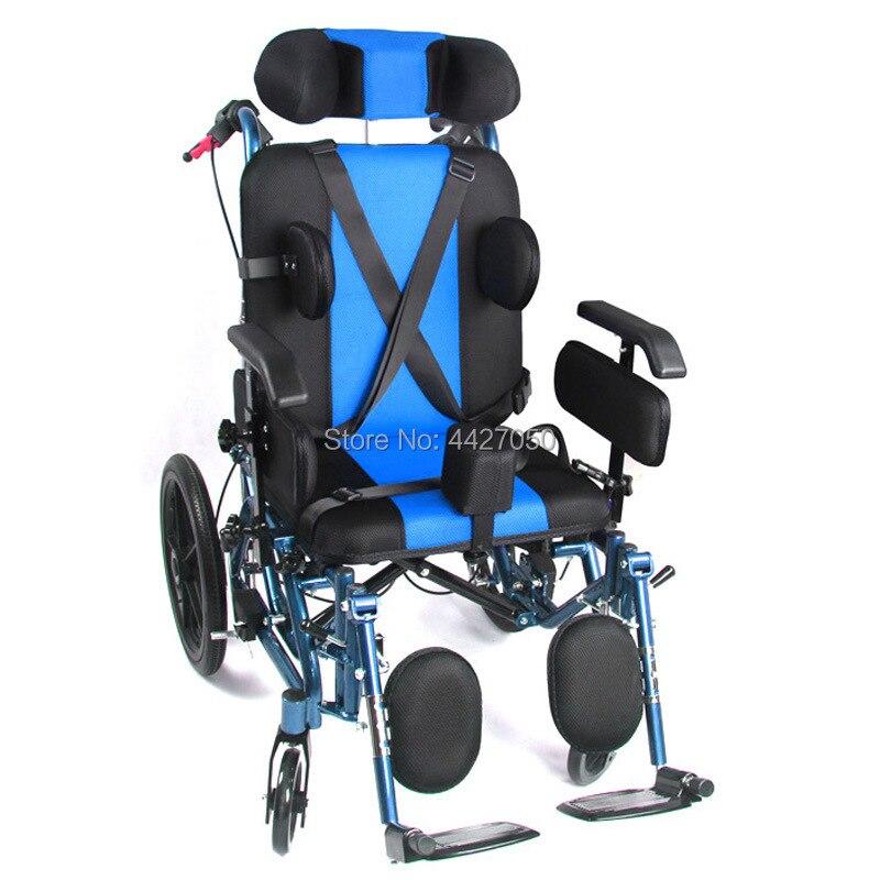 كرسي متحرك متعدد الوظائف للأطفال/الأطفال يدوي قابل للطي خفيف عالي الجودة