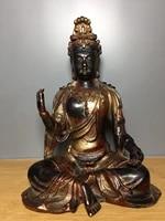 home decor 11 tibet buddhism old bronze cinnabars guanyin void guanyin amitabha enshrine the buddha