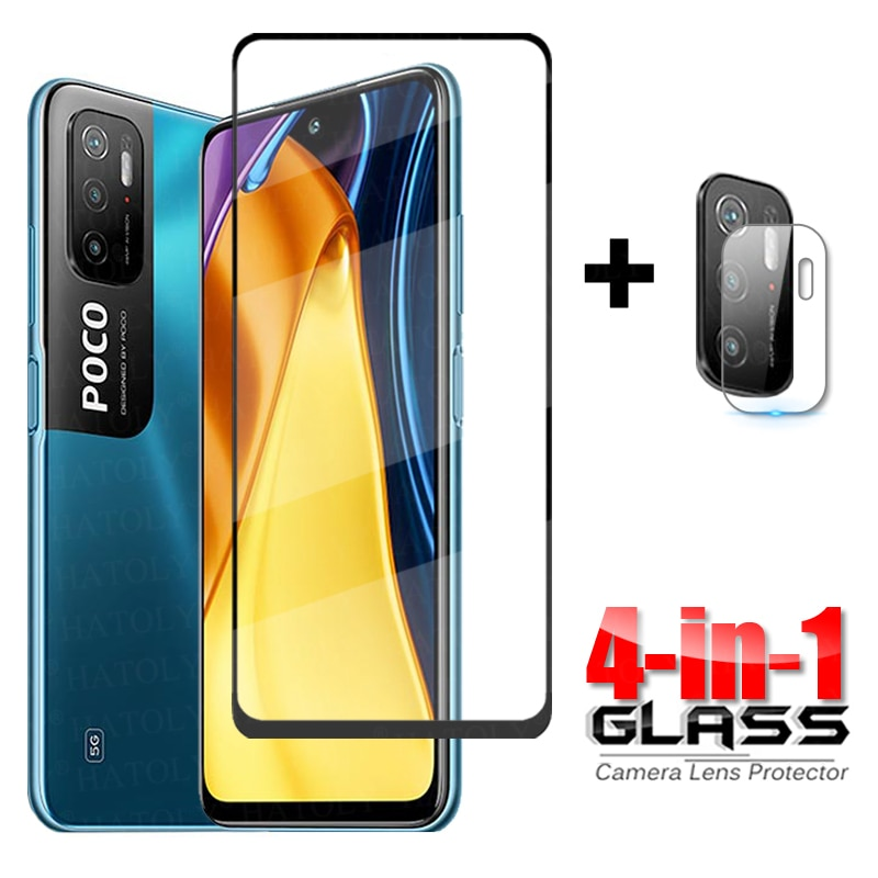 Full Cover on Poco M3 Pro 5G Tempered Glass For Xiaomi Poco M3 Pro 5G Glass Camera Screen Protector