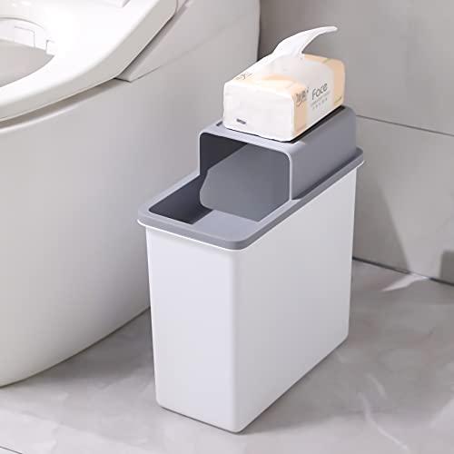 Joybos Trash Can Waterproof Narrow Seam Dustbin Privacy Protection Bucket Garbage For Household Bathroom Toilet Kitchen Bin JX86 enlarge