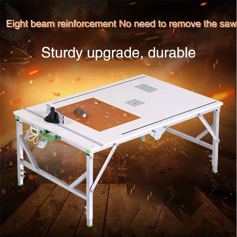 Bricolage multi-fonction portable électrique table à bois scie petite table scie bureau table décorative table pliante