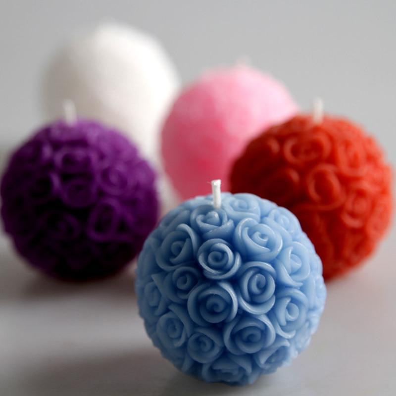 Velas decorativas para boda de 4 Uds., velas románticas con forma de rosa y flores para fiesta de cumpleaños, regalos y recuerdos de boda, suministros para bodas