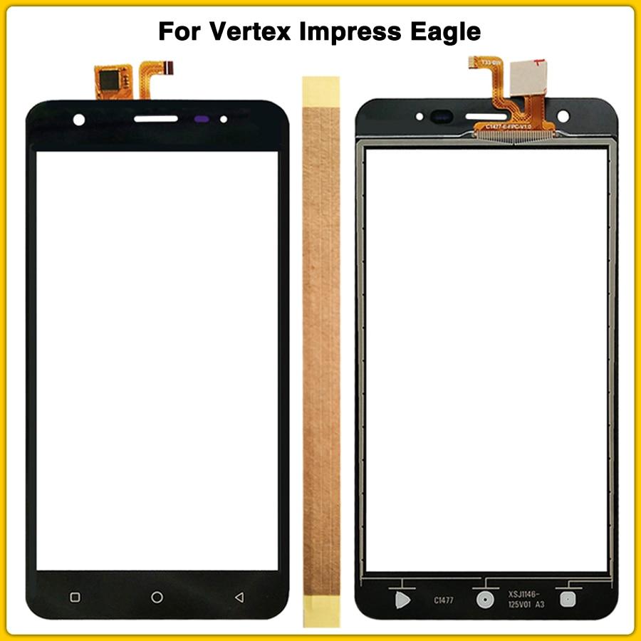 Nueva pantalla táctil Eagle para Vertex Impress Eagle Panel de pantalla táctil digitalizador Sensor Lente de Cristal frontal