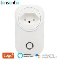 Lonsonho     prise intelligente Wifi Type J  Tuya  suisse  16a  moniteur dalimentation Compatible avec Alexa Google Home Assistant
