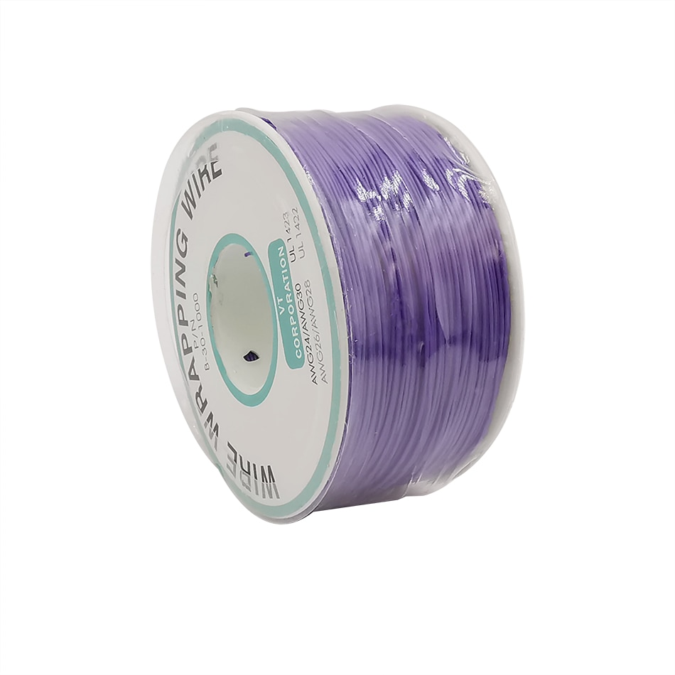 Cable de envoltura púrpura de 250m, aislamiento de cobre estañado de un...