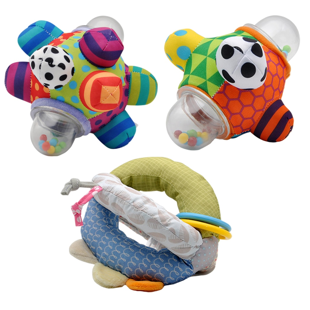 Baby Toys Fun Little Loud Bell Baby Rattle Kids Early Educational Toys for Toddler Baby Xmas Gifts