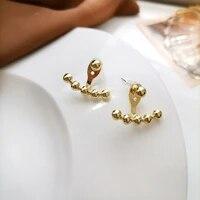 s925 needle women jewelry geometric earrings 2021 new design golden plating hot selling stud earrings for women gifts