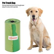 8 Rolls/120Pcs Verde Sacchetto di Rifiuti di Plastica Addensare Pet Sacchetti Dei Rifiuti Cane Spazzatura Durevole di Pulizia Sacchetto di Rifiuti