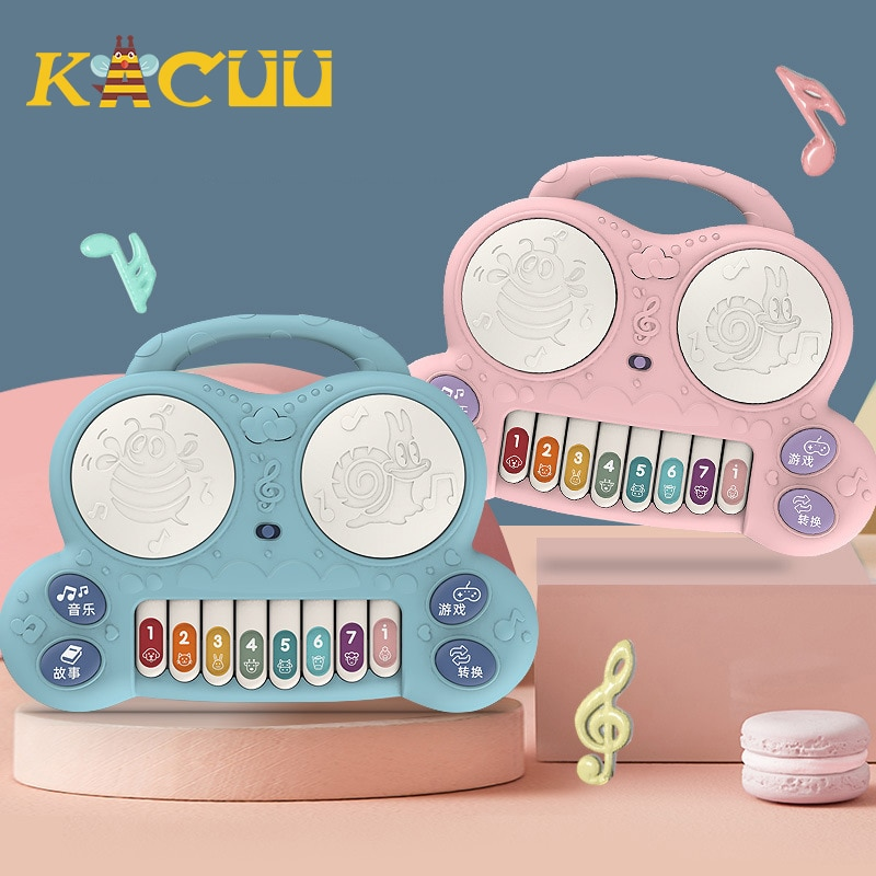 Musical Instrument Baby Piano Toys Portable Piano Toddlers Music Developmental Early Learning Educational Toys For Children Gift