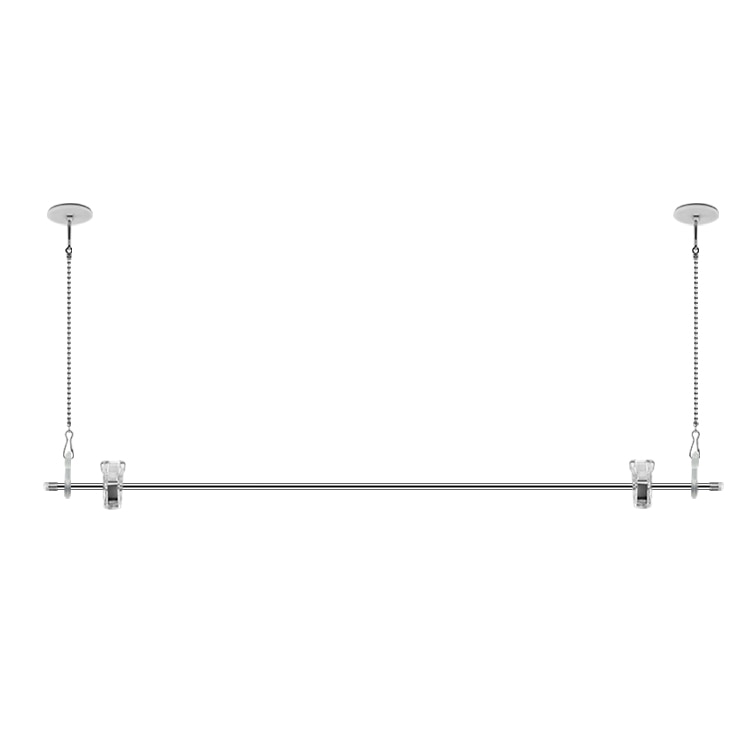 60 Cm Ceiling Flag Pole Hanging Poster Display Rack Advertising Banner Flagpole Clip Hook With Stainless Steel Chain Sticky Disc