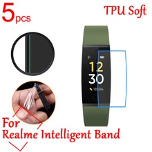 5pcs/lot Ultra Clear TPU Soft LCD Full Cover Screen Protectors Guard For Realme Intelligent Band Spo