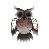 wall hanging metal owl home decor for garden decoration outdoor statues accessories sculptures and miniatures animales jardin