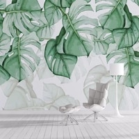 custom photo wallpaper 3d hand painted canvas oil painting tropical plants green leaf living room bedroom home decor wall mural