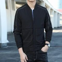 fashion mens jackets new brand jacket men spring autumn casual solid windbreaker outwear slim fit high quality m 4xl