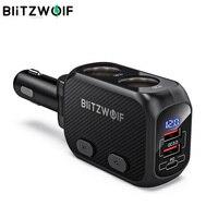 BlitzWolf BW-CLA1 автомобиля Зарядное устройство с двойным 150W Мощность переходник-разветвитель на две QC3.0 зарядных порта USB для автомобиля Зарядное...