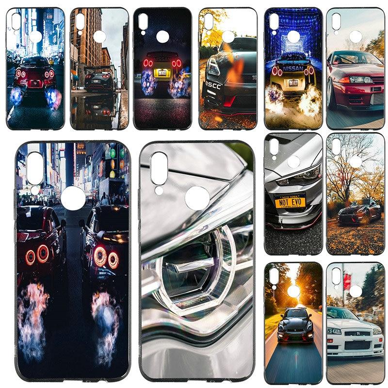 For Huawei P8 P9 P10 P20 P30 Mate 10 Pro Honor 7A 8X 9 10 Lite 2017 Shell Soft TPU Mobile Phone Case Hot Nissan GTR Sports Car
