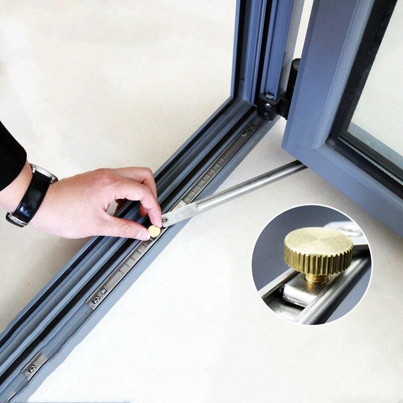 1 pçs aço inoxidável vento cinta casement localizar suporte liga de alumínio janela limitador dobradiça dobrável casa acessórios de ferragem