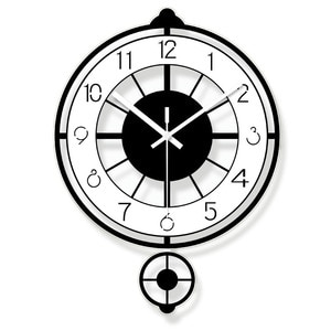 Creative Mute Modern Design Large Wall Clock Clocks for Home Kitchen Living Room Decor Battery Operated Silent