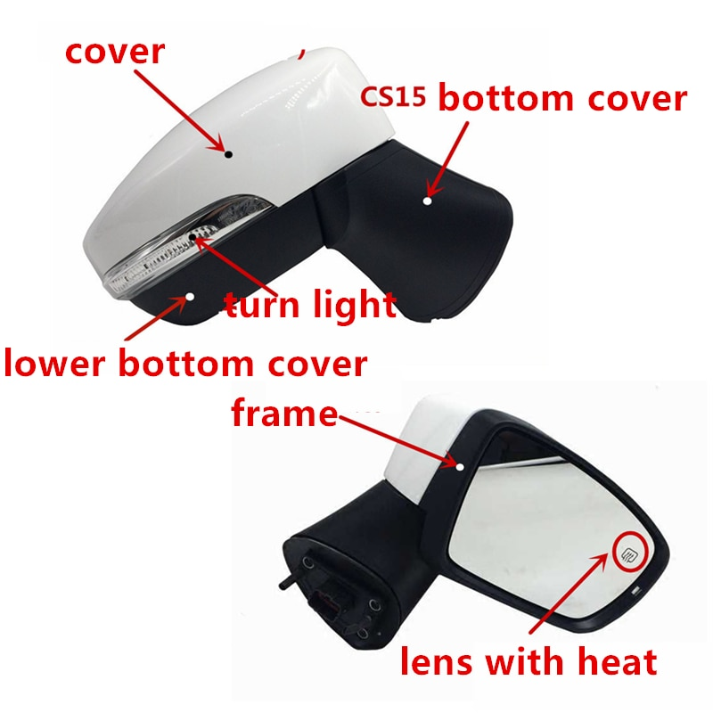 Rear view mirror cover/Turn light/lamp for CHANGAN CS15 lens frame