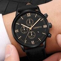Stylish business men's watch with calendar alloy case analog quartz sports men's watch 2020 clock luxury brand Relogio Masculino