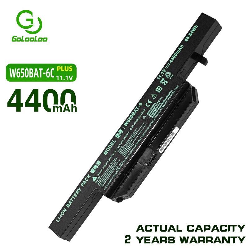 Gololoo 11,1 V 4400MaH аккумулятор для ноутбука Clevo W650BAT-6 w650bat 6 K610C-I5 G150SG K650D K750D G150TC G150MG K4 K5 P4-I54572d1