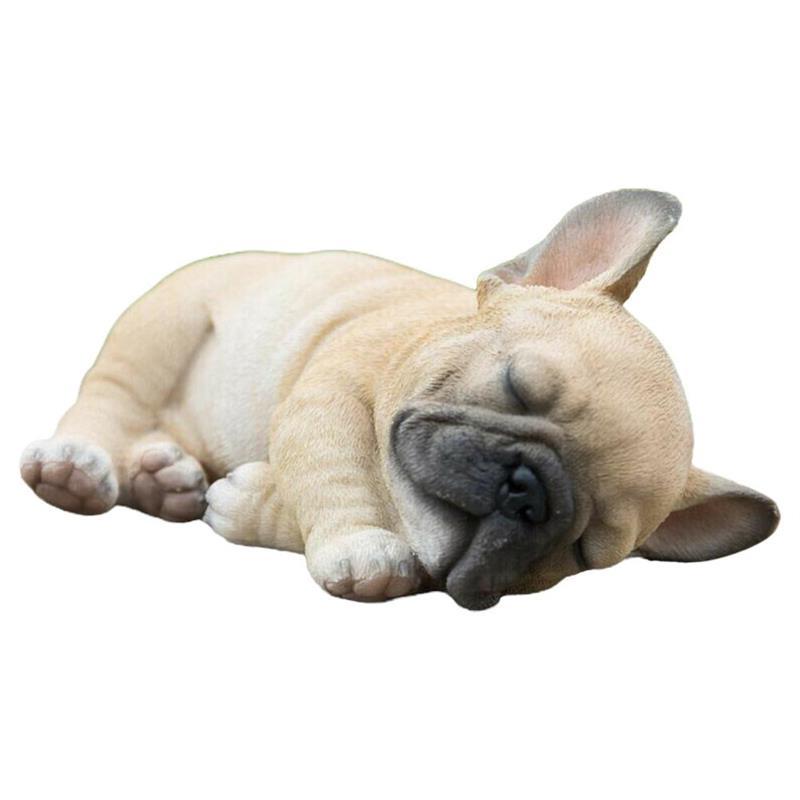 Sleepy French Bulldog Statue Resin Ornament Lawn Sculpture Garden Yard Decor Garden Statue Home Decor nordic abstract geometric resin dog statue modern minimalist bulldog sculpture animal statue ornament craft decoration d056